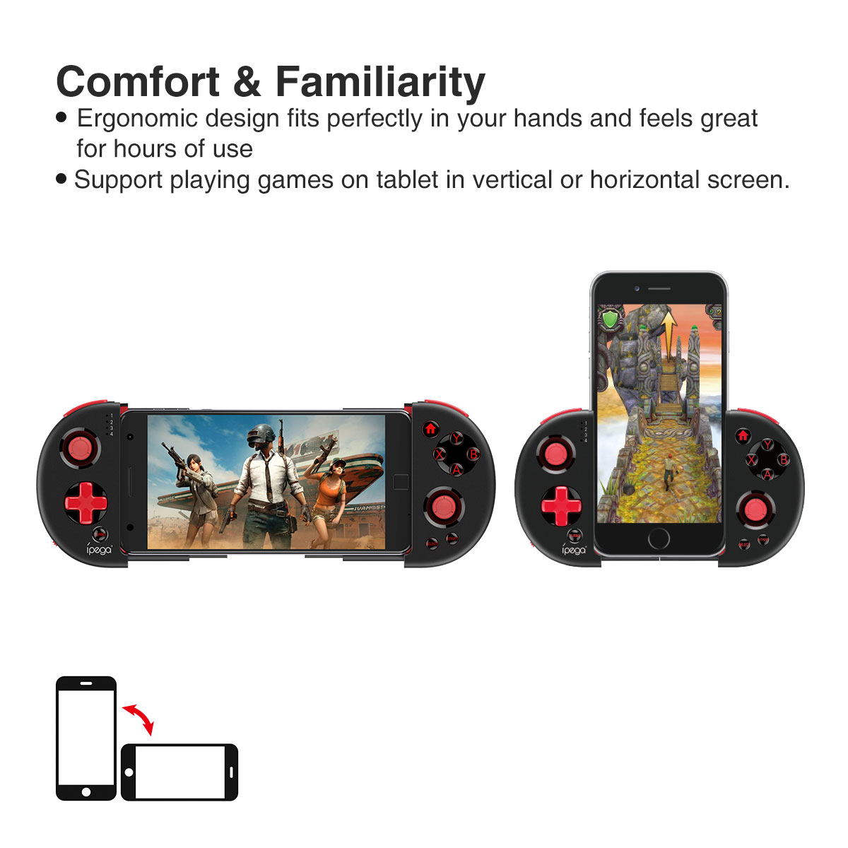 Ipega 9087 Red Knight Telescopic Bluetooth Controller-Game