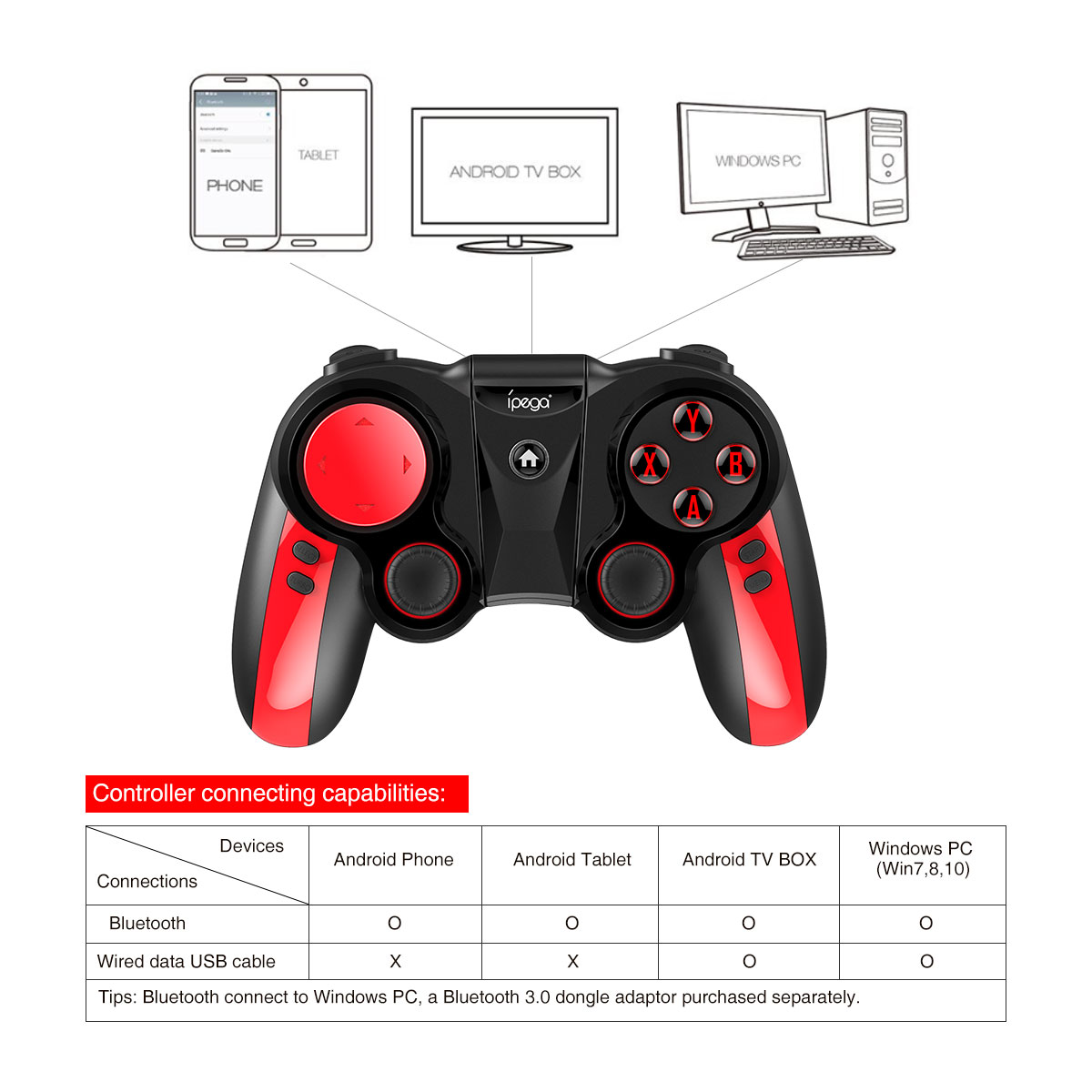 Ipega 9089 Pirate professional Bluetooth gamepad Joystick