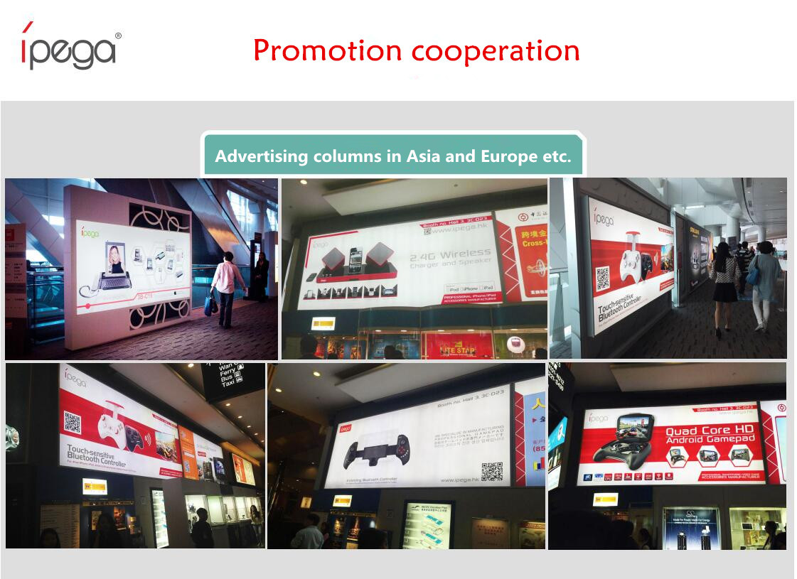 ipega gamepad Promotion cooperation in the world